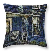 Blue Front Porch Photo Art 04 Throw Pillow