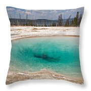 Blue Funnel Spring In West Thumb Geyser Basin Throw Pillow