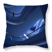 Blue Future Throw Pillow