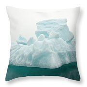 Blue Glacial Iceberg Floating Throw Pillow