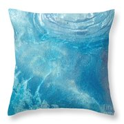 Blue Glacier Ice Throw Pillow