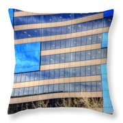 Blue Glass Reflections 4993 Throw Pillow