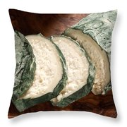 Blue Goat Cheese Throw Pillow