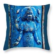 Blue Goddess Throw Pillow