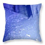 Blue Goosebumps Throw Pillow