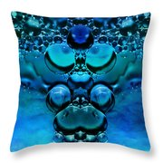 Blue Green Aura Throw Pillow