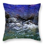 Blue Green Water Throw Pillow
