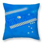 Blue Hard Drive Throw Pillow
