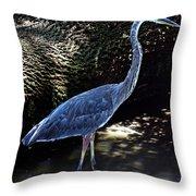 Blue Heron 8 Throw Pillow