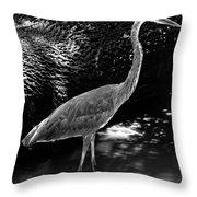 Blue Heron 8bw Throw Pillow