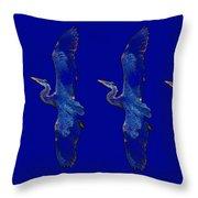 Blue Heron Ballet Throw Pillow