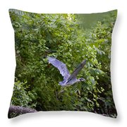 Blue Heron Journey I Throw Pillow