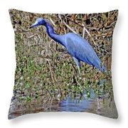 Blue Heron Louisiana Throw Pillow