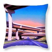 Blue Highway 7 Throw Pillow