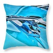 Blue Hood Ornament-hdr Throw Pillow