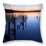 Blue Hour II Throw Pillow