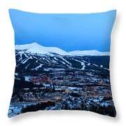 Blue Hour In Breckenridge Throw Pillow