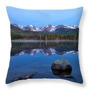 Blue Hour On Sprague Lake Throw Pillow