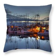 Blue Hour Throw Pillow by Randy Hall