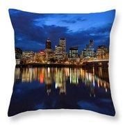 Blue Hour Reflection II Throw Pillow
