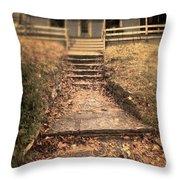 Blue House Throw Pillow by Jill Battaglia