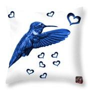 Blue Hummingbird - 2055 F S M Throw Pillow
