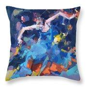 Blue Hurricane Throw Pillow