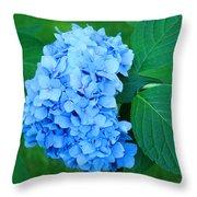 Blue Hydrangea Flower Art Prints Nature Floral Throw Pillow
