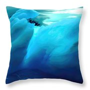 Blue Ice Throw Pillow