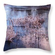Blue Ice And Reflections Throw Pillow