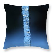 Blue Icicle Throw Pillow