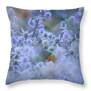 Blue Infinity Throw Pillow