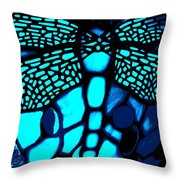 Blue Imitation  Throw Pillow