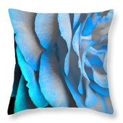 Blue Impatience Throw Pillow