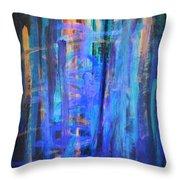 Blue Impression Throw Pillow