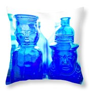 Blue In The Face Throw Pillow