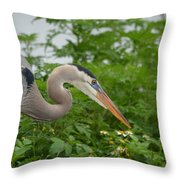 Blue In The Greens  Throw Pillow