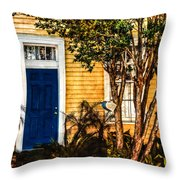 Blue In The Tropics Throw Pillow