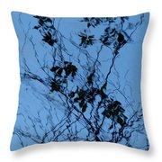 Blue Ink Throw Pillow