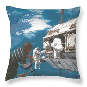 Blue Is My World Throw Pillow