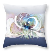 Blue Is The Colour Of My Love II Throw Pillow