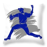 Blue Jays Shadow Player2 Throw Pillow