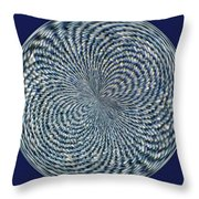 Blue Jean Patch  Throw Pillow