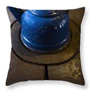 Blue Kettle Throw Pillow