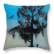 Blue Kite Sunset Throw Pillow