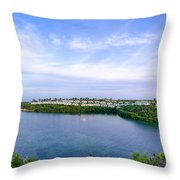 Blue Lagoon Cottages Throw Pillow