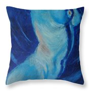 Blue Lagoon - Nudes Gallery Throw Pillow