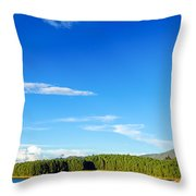Blue Lake And Green Hills Throw Pillow