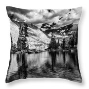 Blue Lake Throw Pillow