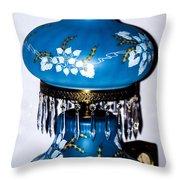 Blue Lamp Throw Pillow